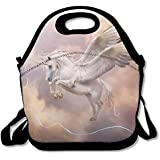 Neoprene Lunch Tote - Unicorn Horse Waterproof Reusable Cooler Bag For Men Women Adults Kids Toddler Nurses With Adjustable Shoulder Strap - Best Travel Bag