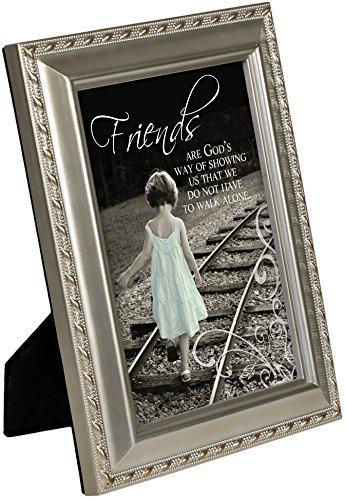 Friends Don 't Walk Alone Champagner Silber 12,7x 17,8cm gerahmt Kunst mit Staffelei Rückseite (Landwirtschaft Gerahmte Kunst)