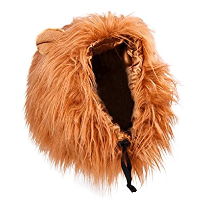 Mudder Dog Costume Lion Mane Wig, Brown by pupproperty dog clothing