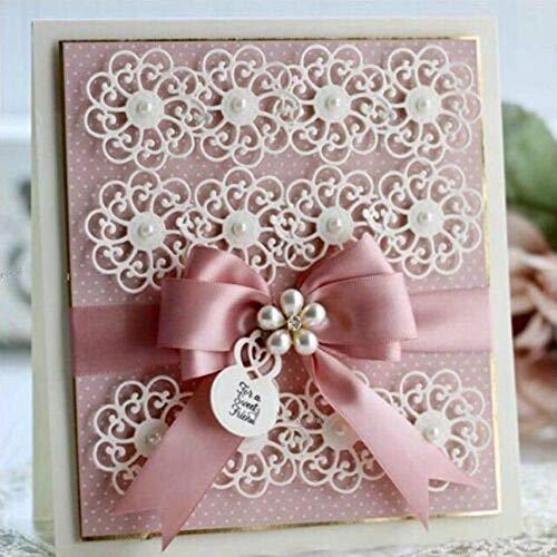 Stanzschablone Spitzeblume Stanzbögen Stanzmaschine Stanzformen für Scrapbooking Kartenbasteln Silber