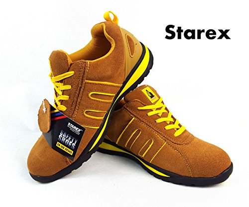 Sicherheit Trainer–Arbeiten & Utility Schuhe, rot / schwarz, 11 Yellow/Camel Suede