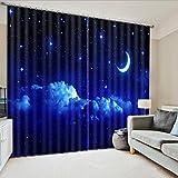 Wapel Sternenhimmel 3D-Vorhänge Bettwäsche Wohnzimmer Oder Hotel Vorhänge Fenster Vorhänge Cortians Sonnenschirm Gute Nacht Vorhang 260X320CM