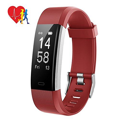 Mpow Fitness Armband mit Pulsmesser,Wasserdicht IP67 Smartwatch Fitness Uhr Pulsuhren Fitness Tracker Aktivitätstracker Schrittzähler Uhr für Damen Herren Anruf SMS Beachten für iPhone Android Handy -