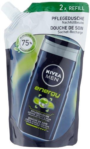 Nivea Men Energy Pflegedusche Nachfüllbeutel, Duschgel, 6er Pack (6 x 500 ml)