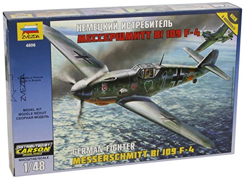 Zvezda 500784806 - 1:48 WWII Messerschmitt Bf-109 F4 (Modell Wwii Flugzeuge)
