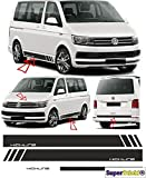 SUPERSTICKI VW Bus T5 T6 Edition Highline Seitenstreifen Aufkleber Dekor 2016 Komplett Set Viperstreifen Viper Streifen Racing Stripes Rennstreifen Aufkleber Sticker Tuning Autoaufkleber