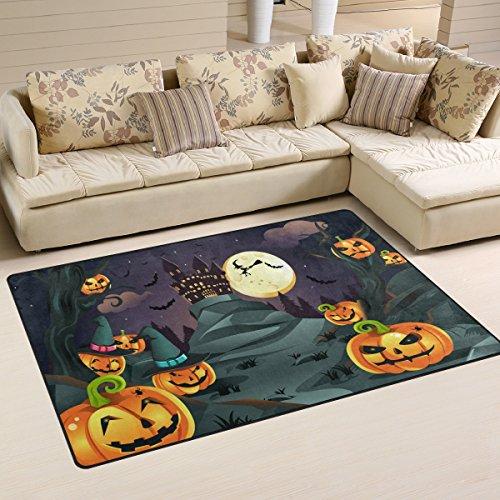 rbisse Hintergrund Bereich Teppich Teppich rutschfeste Fußmatte Fußmatten für Wohnzimmer Schlafzimmer 152,4x 99,1cm, Textil, multi, 60 x 39 inch (Kürbisse Halloween-hintergrund)