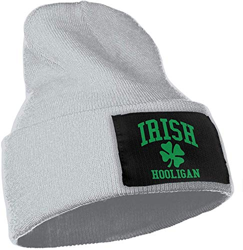 ingshihuainingxianruangangs Irish Hooligan Men & Women Skull Skimütze Winter Warm Stretchy Knitting Beanie Hat, OneSize, Grau