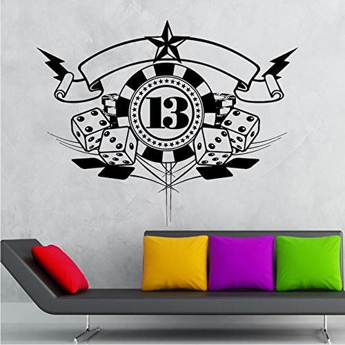 Mbambm Casino Wall R Gambling Poker Decal Gamble Affiches Vinyle Stickers Muraux Parede Decor Mural Entertainment Decor Decor 75 * 94 Cm
