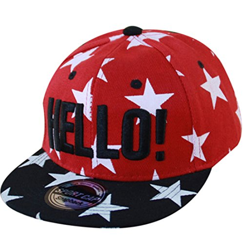 THENICE Kind Hip-Hop Cap Baseball Kappe Hut (Star Rot)