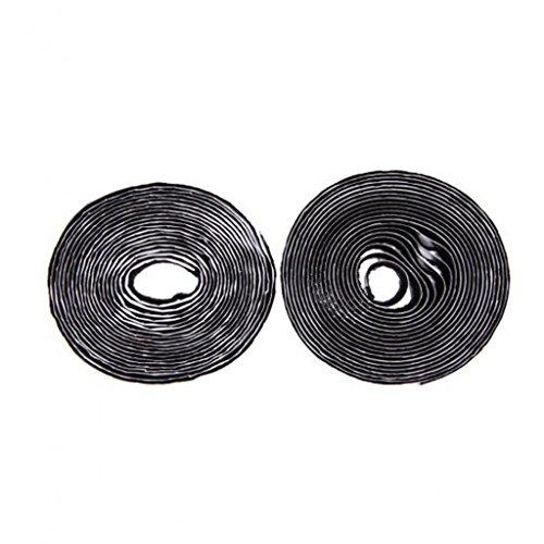 Heavy Duty Self Adhesive Sticky Back Hook & Loop Fastening Tape Black 25mm