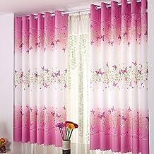 tongshi imprimir cortina de puerta de la flor de la gasa de la cortina del tabique