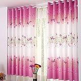 Tongshi Imprimir cortina de puerta de la flor de la gasa de la cortina del tabique ventana Habitación bufanda (D)