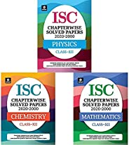 ISC Chapterwise Topicwise Solved Papers Class 12 Physics,Chemistry & Mathematics for 2021 Exam (Set of 3 b