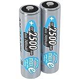 ANSMANN Mignon AA Akku 1,2V Typ 2500 mAh - NiMH AA Akkus mit maxE für Geräte mit hohem Stromverbrauch - 1000 mal wiederaufladbare Batterien AA für Spielzeug Taschenlampe & Controller uvm - 2 Stück