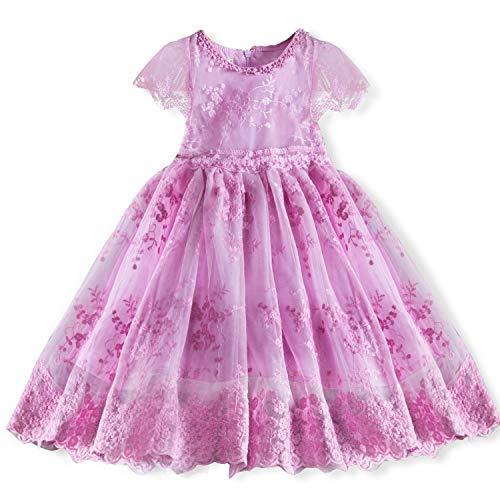 TTYAOVO Baby 2 stücke Kleidung Set, Mädchen Niedlichen Cartoon Outfits Baby mädchen Gedruckt Top T-Shirt + Tutu Rock für 1-7 Jahre (03 Lila, 6-7 Jahre) -