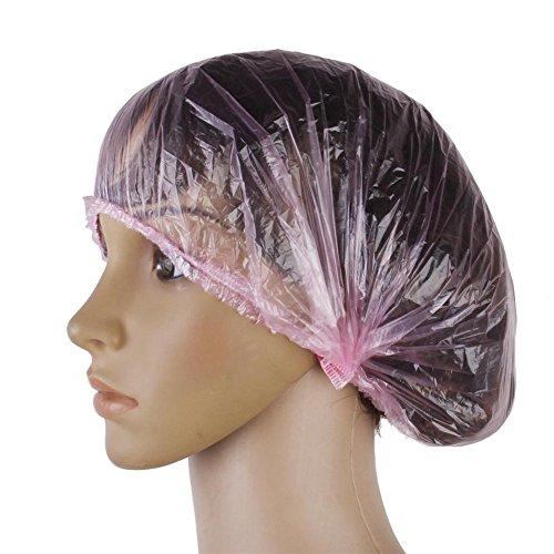 eg Duschhauben Extra stark Elastische Kappen zum Zuhause, Hotel, Friseur und Spa (rosa) ()