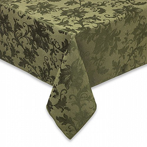 bbb-holiday-joy-green-damask-flower-fabric-tablecloth-table-cloth-60x104-ov-by-bed-bath-beyond