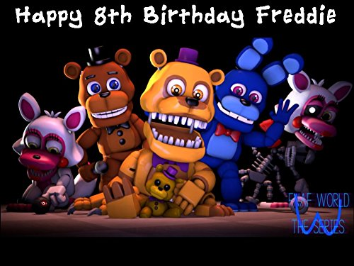 A4 Five Nights at Freddy's Design 1 Edible Icing Birthday Cake Topper