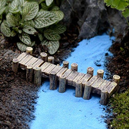 Zolimx 3PCS Micro landscape Ornaments Water Corridor Set Miniature Fairy Garden Decor