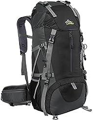 Loowoko Hiking Backpack, 50L Waterproof Travel Backpack Trekking Rucksack Mountaineering Backpack with Rain Cover for Men Women Outdoor Sport
