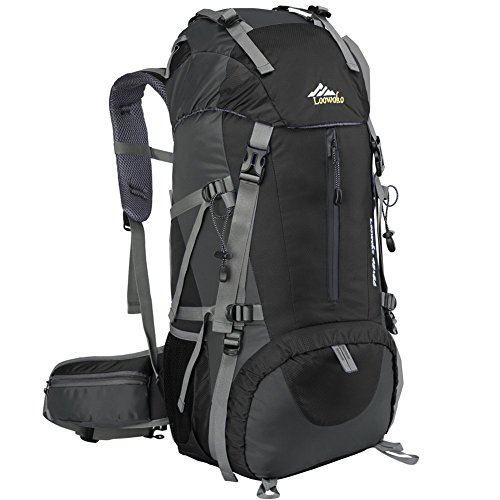 513lNwacKZL. SS500  - Loowoko Hiking Backpack, 50L Waterproof Travel Backpack Trekking Rucksack Mountaineering Backpack with Rain Cover for…