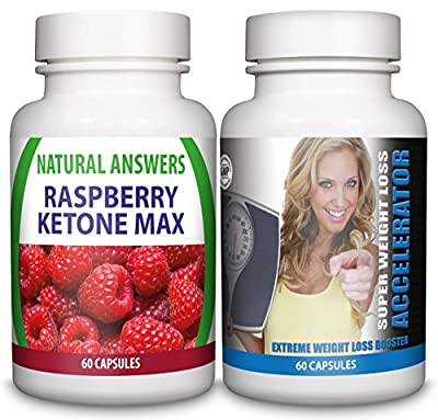 Raspberry Ketone Max & Ultra Strong Super Weight Loss Accelerator Diet Pills - 1 Month Supply - Fat Burners For Men & Women - Work Quicker Than T5, T6 - Lose Weight Fast Slimming Supplement - Block Carbs - Suppress Appetite - Burn Fat Fast from Natural An