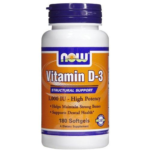 Now Foods Vitamin D3 1000iu Standard, 180 Kapseln