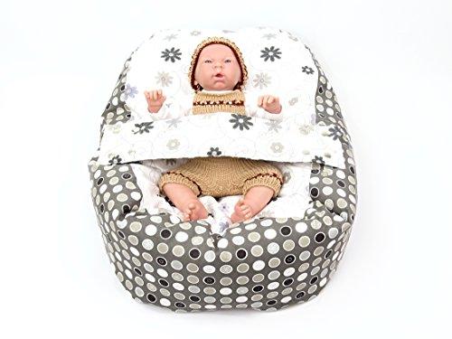 Baby Liegekissen, Lagerungskissen, Alternative zur Babywippe & Babyliege, auch als Kinderseitzsack...