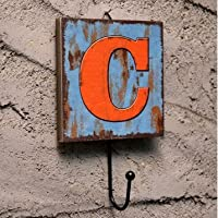 Wall Hook Decorative Vintage Coats Creative Key Holder Door Hanger Chic Unique Rack C alphabet letter