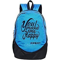 School Bag Backpack 30 Liters For Boys/Girls Polyester Lightweight Bag (Blue)