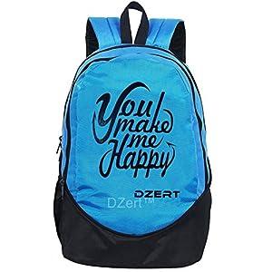 DZert School Bag Backpack 30 Liters for Boys/Girls Polyester Lightweight Bag (Blue)
