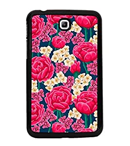 ifasho Designer Back Case Cover for Samsung Galaxy Tab 3 (7.0 Inches) P3200 T210 T211 T215 LTE (Senna Auriculata Rose Dress Rose Under Fire Lupine )