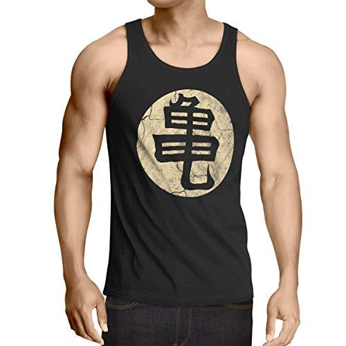 style3 Goku Roshis Turtle School Herren Tank Top, Größe:M;Farbe:Schwarz (Top Ball Tank)