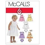 McCall's Patterns M6015 - Cartamodello per Cucire Abiti, Mutandine e Fascia per Capelli, da Bambina, Confezione da 1, Colore: Bianco, Taglie: Tutte