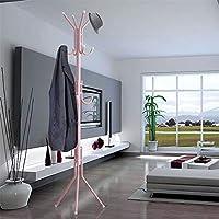 Quieting Coat Hanger Jacket Rack Hat Umbrella Tree Stand Metal Clothes Holder 12 Hooks