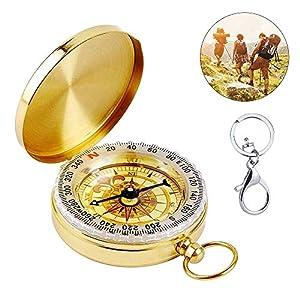 Jooheli Kompass Outdoor, Portable Wasserdicht Kompass mit Leuchtziffern, Taschenkompass für Camping, Wandern und andere…