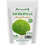 Moringa 250g polvo de hoja, oleifera PREMIUM PLUS alimentos crudos certificada (1x250g)