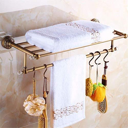 Alle Kupfer Antik Ribbon Drill Badzubehörset Rolle Papier, Seifenkiste, Handtuchhaken (Farbe: Handtuchhalter) -