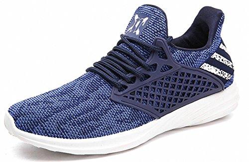 BenSorts Herren Gym Road Laufschuhe Breathable Knit Training Laufschuhe Ultra Lightweight Sneakers