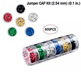 Colorful Jumper CAP Kit (2.54 mm) (0.1 in.) (600 PCS) with 6 Layer Superimposed Parts Box Package, for Manufacturers and Electronic Enthusiasts.