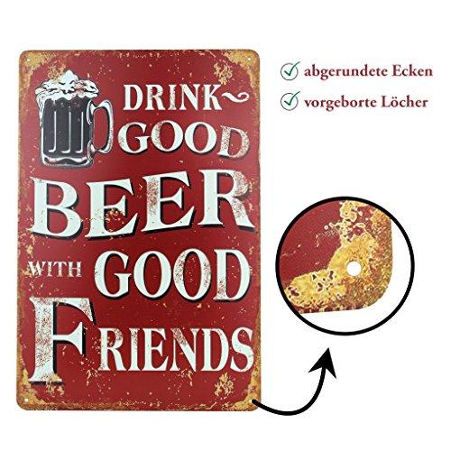 Blechschilder Bier (Blechschild Bier Retro-Schild Vintage Magnet-Metallschild Werbeschild 20x30 cm Türschild Bier Sprüche Deko Wandschild Retro Beer Motiv)