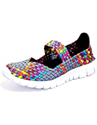 DORSION Femme Poids léger breathable Chaussures de sport et d'eau tissées Shoes Trainers Slip On