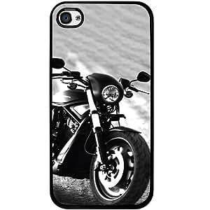 Casotec Cool Bike Design 2D Hard Back Case Cover for Apple iPhone 4 / 4S - Black
