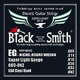 Black Smith 9-42 Jeu de cordes pour Guitare électrique