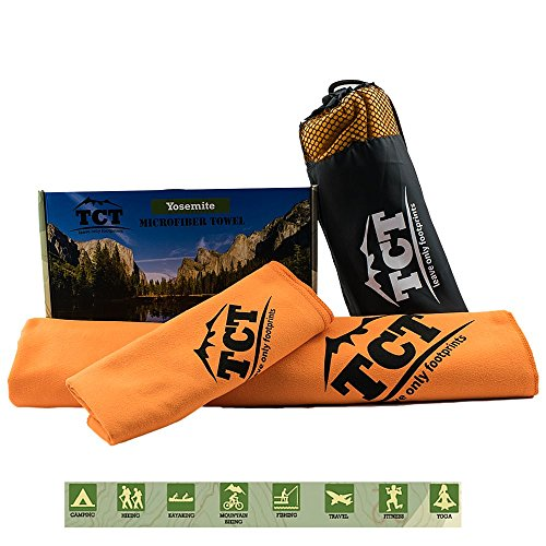 The Camping Trail Microfaser Handtücher Leicht und Antibakteriell - Perfekte Reise, Outdoor, Camping und Sport Handtuch