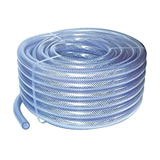 10mm ID 3 Metre Length Clear Braided PVC Hose With Synthetic Reinforment - Au.