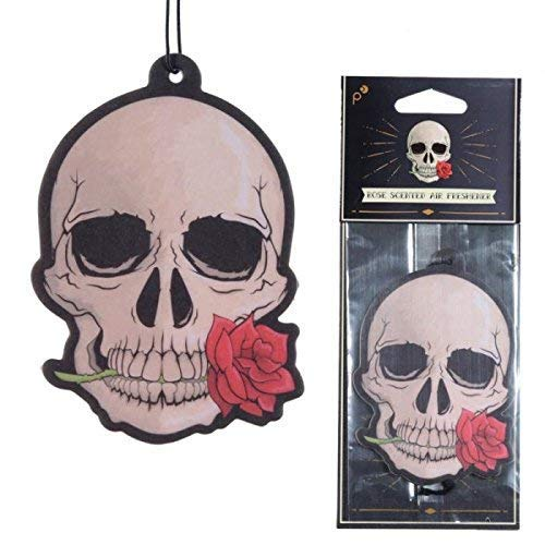 Subito disponibile 3 PEZZI Deodorante per Auto - Teschio con Rosa Rossa - Ros