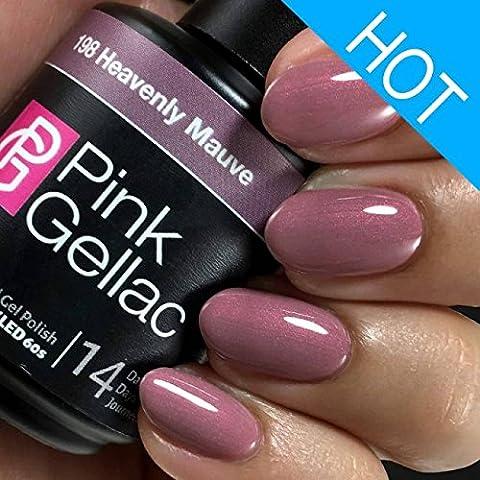Pink Gellac UV Lack 198 Heavenly Mauve. Professionelle Gel Nagellack