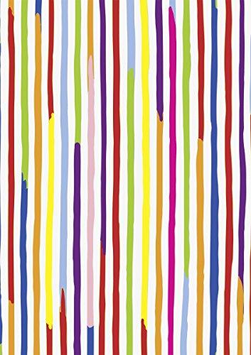 """Preisvergleich Produktbild HEYDA Bastelkarton """"Kids Color"""" - Linien, (B)500 x (H)700 mm VE = 10"""